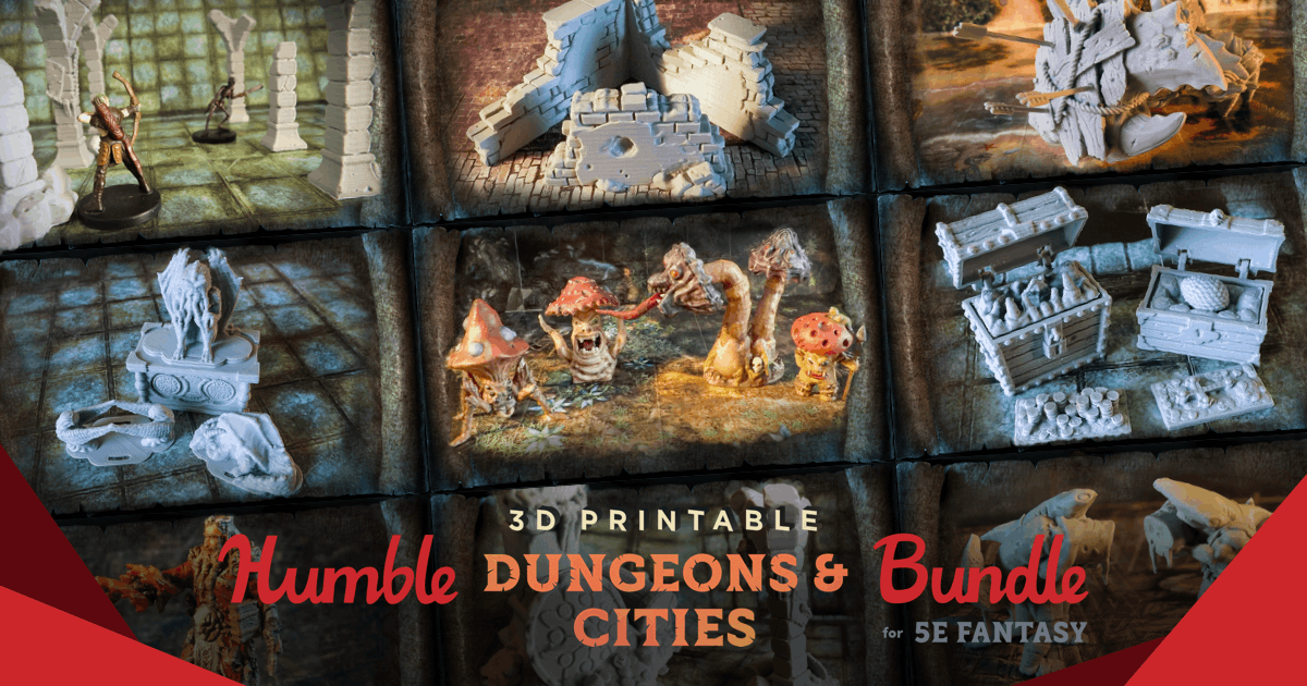 The Humble 3D Printable Dungeons & Cities Bundle for 5E Fantasy
