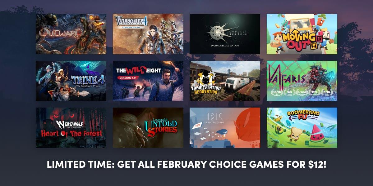 Get all February Choice games when you sign up for Choice Premium.. Na HumbleBundle możesz wybrać jeden z kilku pakietów ebooków w języku angielskim. Czasem cena za najniższy pakiet to nawet 1 dolar. Oprócz tego możesz wesprzeć organizację charytatywną